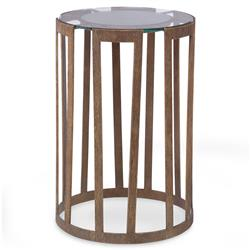 Mr. Brown Vernet Modern Classic Flat Gold Glass End Table