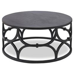 Mr. Brown Wolfgang Modern Classic Graphite Trellis Round Coffee Table