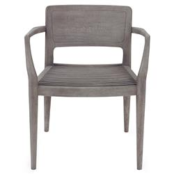 Mr. Brown Luccio Industrial Loft Grey Oak Outdoor Arm Chair