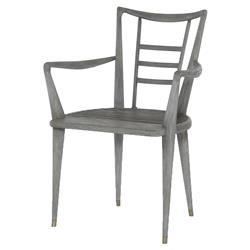 Mr. Brown Mahler Industrial Loft Retro Grey Oak Outdoor Armchair