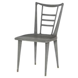 Mr. Brown Mahler Industrial Loft Retro Grey Oak Outdoor Side Chair