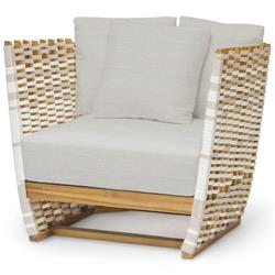 Palecek San Martin Modern Classic Rope Wrapped Outdoor Lounge Chair