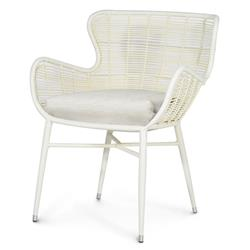 Palecek Palermo Modern Classic Cream Outdoor Chair - Natural Sand