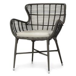 Palecek Palermo Modern Classic Espresso Outdoor Chair - Natural Salt