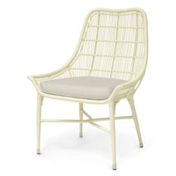 Palecek Lucca Modern Classic Cream Outdoor Chair - Natural Sand