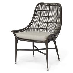 Palecek Lucca Modern Classic Espresso Outdoor Chair - Natural Sand