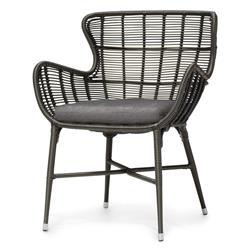 Palecek Palermo Modern Classic Espresso Outdoor Chair - Grey Sand