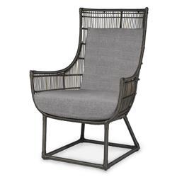 Palecek Verona Modern Classic Faux Wicker Outdoor Lounge Chair - Grey Sand