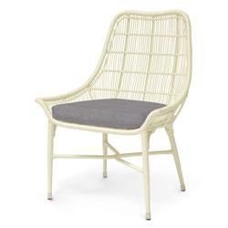 Palecek Lucca Modern Classic Cream Outdoor Chair - Grey Sand