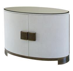 Rachelle Modern Classic White Brown Ellipse Sideboard