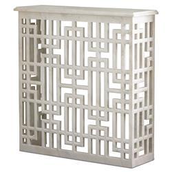 Pierce Modern Classic Marble Gridblock Console Table