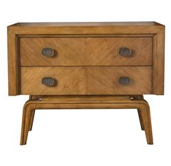 Aletta Global Bazaar Brown African Mahogany Two Drawer Dresser