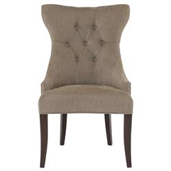 Cherie Modern Classic Brown Tufted Wing Chair