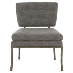 Persia Classic Gold Branch Mod Grey Side Chair
