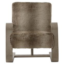 Maiara Rustic Lodge Modern Brown Fur Arm Chair