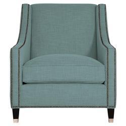 Emmeline Hollywood Regency Nickel Soft Teal Arm Chair