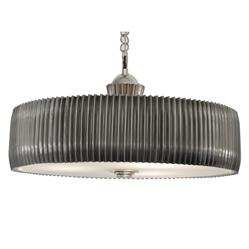 Lizzy Industrial Loft Silver Nickel Accordion Chandelier