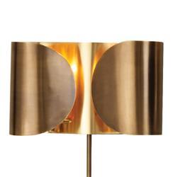 Gabriela Hollywood Regency Golden Brass Folded Sconce