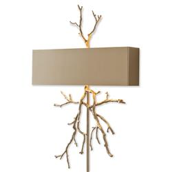 Bijou Tree Branch Hollywood Regency Nickel Pin-Up Wall Sconce