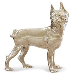 Roscoe Modern Classic Silver Antique Bulldog Sculpture
