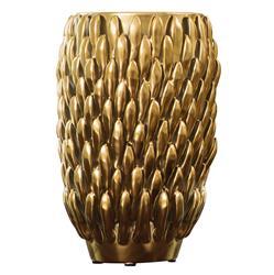 Gable Modern Classic Matte Gold Flower Petal Vase Small