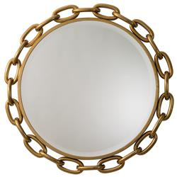 Dinah Global Bazaar Iron Gold Brass Finish Linked Mirror - 40D
