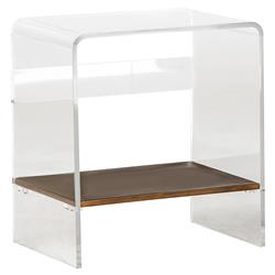 Marcy Modern Classic Acrylic Gold End Table