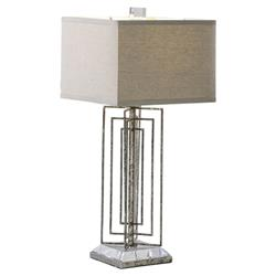 Corwick Modern Classic Silver Leaf Table Lamp