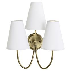 Ellington Classic Gold White Triple Wall Sconce