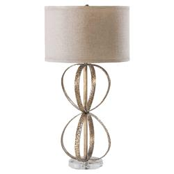 Katriana Modern Classic Hammered Gold Metal Rings Table Lamp