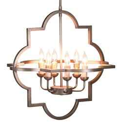 Regis Regency Soft Brass Quatrefoil Chandelier