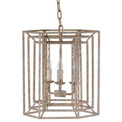Leiland Modern Classic Rustic Gold Geometric Lantern