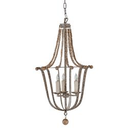 Rennes French Silver Gold Leaf Rustic Chandelier