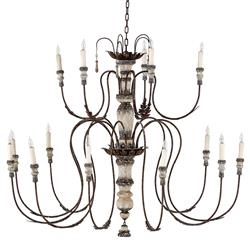 Deonte French Country Delicate Arm Rustic Chandelier