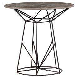 Justus Industrial Wire Frame Oak Bistro Table