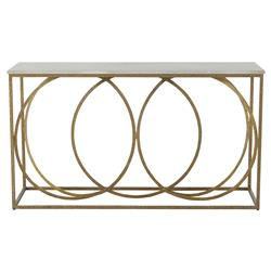 Vaughn Modern Gold Iron White Marble Console Table