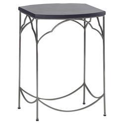Simple Modern Classic Ebony Nickel End Table