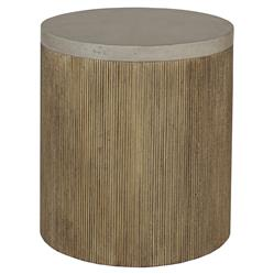 Griff Industrial Loft Gilded Vellum End Table