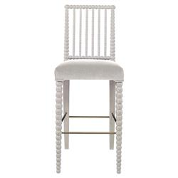 Mr. Brown Beatrix Modern White Bead White Velvet Barstool