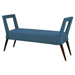 Mr. Brown Eliza Modern Prussian Velvet Window Bench