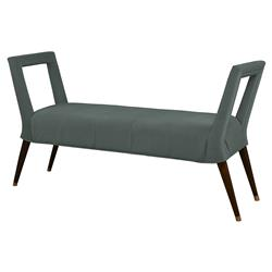 Mr. Brown Eliza Modern Sage Velvet Window Bench