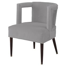 Mr. Brown Eliza Modern Grey Velvet Window Arm Chair