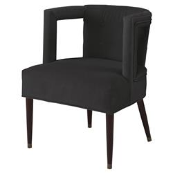 Mr. Brown Eliza Modern Dark Grey Velvet Window Arm Chair