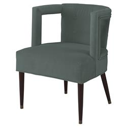 Mr. Brown Eliza Modern Window Sage Velvet Arm Chair