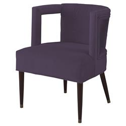 Mr. Brown Eliza Modern Window Purple Velvet Arm Chair