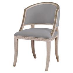 Mr. Brown Pearl Chair Regency Gilt Wave Chair - Cannon Grey Velvet