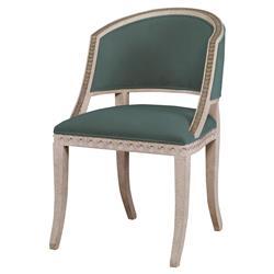 Mr. Brown Pearl Chair Regency Gilt Wave Chair - Silver Sage Velvet