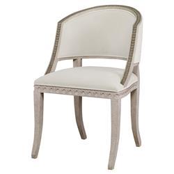 Mr. Brown Pearl Chair Regency Gilt White Velvet Wave Chair