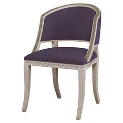 Mr. Brown Pearl Chair Regency Gilt Purple Velvet Wave Chair