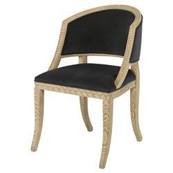 Mr. Brown Pearl Chair Regency Ash Wave Chair - Dark Grey Velvet